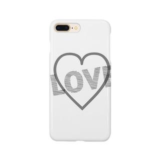 シンプル(LOVE) Smartphone cases