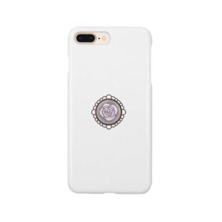 白い薔薇【ロリータ】 Smartphone cases