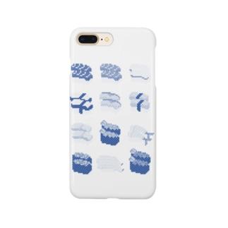 お寿司クン(一覧)青 Smartphone cases