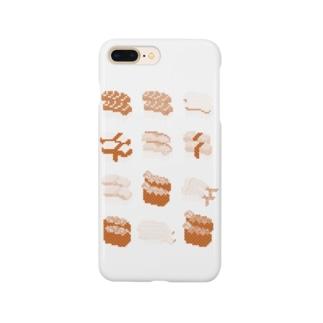 お寿司クン(一覧)赤 Smartphone cases