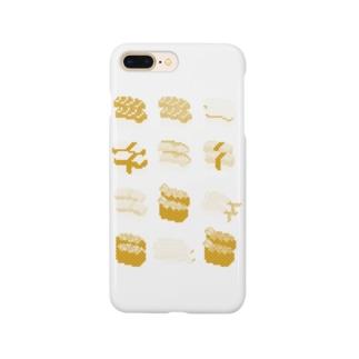 お寿司クン(一覧)黄色 Smartphone cases
