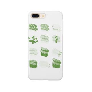 お寿司クン(一覧)緑色 Smartphone cases