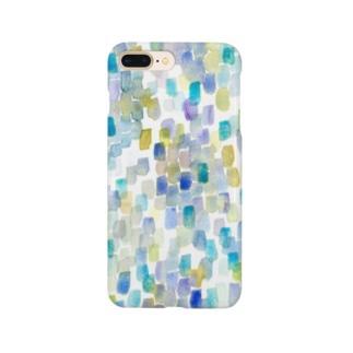 雨色rectangle Smartphone cases