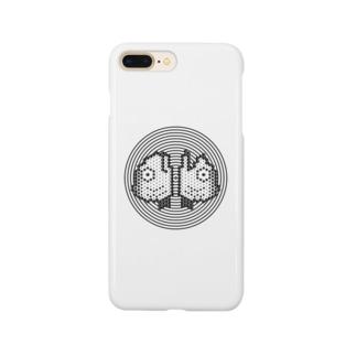 渦潮にあうん鰯の頭(白黒) Smartphone cases