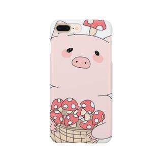 きのこ狩り豚ちゃん Smartphone cases