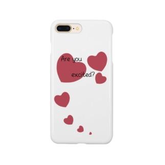 ハート Are you excited? Smartphone cases