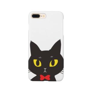 黒猫カゲチョ Smartphone cases