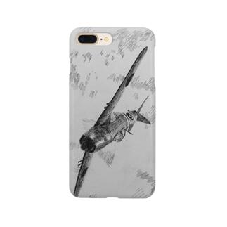 紫電改の背面攻撃スマホケース Smartphone cases