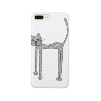荒れ狂う伸び猫 Smartphone cases