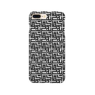むらっさんロゴスマホケース(黒) Smartphone cases