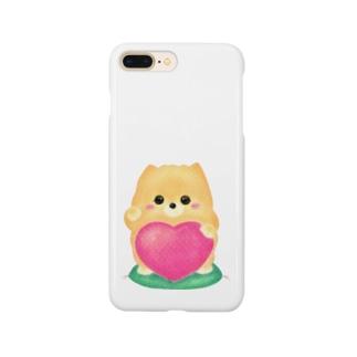 お招きポメラニアン Smartphone cases