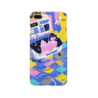 おふろば(青) Smartphone cases