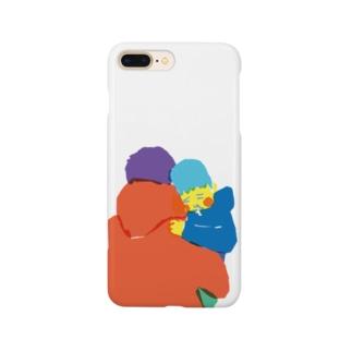 お父さんに抱っこされて寝る Smartphone cases