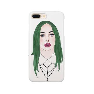 Green Hair Girl Smartphone cases