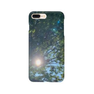 木と太陽 Smartphone cases