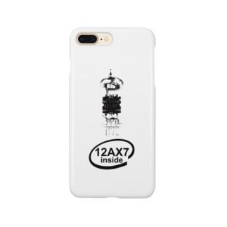 173H Designの真空管12AX7黒 Smartphone cases
