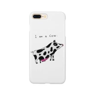 牛になりたい豚。 Smartphone cases