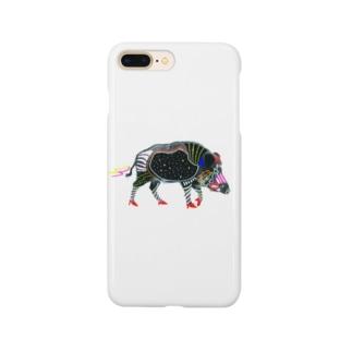 腹ペコ猪、腹宇宙 Smartphone cases