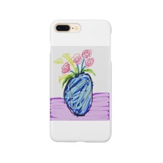 ピンクのバラ Smartphone cases