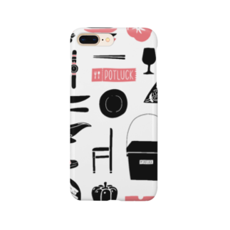 POTLUCK(ポットラック)のPOTLUCK Graffiti Pink Smartphone cases