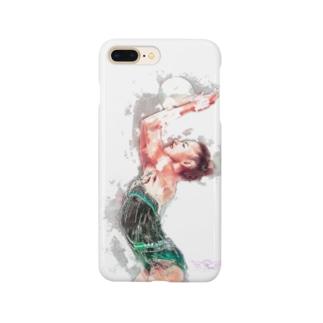 新体操ガール グリーン Smartphone cases