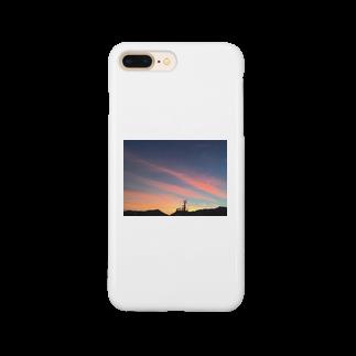 cozcozの港の夕焼け Smartphone cases