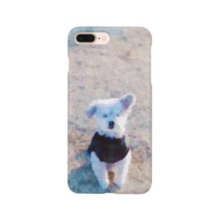 芝生のおじい犬(水彩調) Smartphone cases