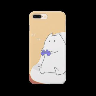 """しろの""""猫""""な雑貨店のゲーム猫 Smartphone cases"""