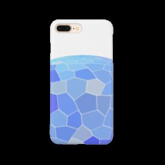 水草のブルー玉 Smartphone cases