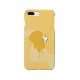 """しろの""""猫""""な雑貨店のとろけるチーズ Smartphone cases"""