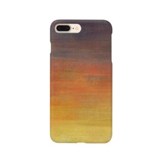 夕焼けグラデ Smartphone cases
