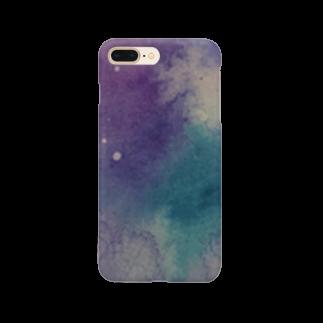 ff6rfの水彩宇宙柄 Smartphone cases