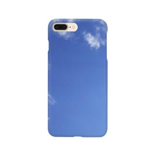 Maronnneko's Store のMaronnneko Bleu Sky Phone Case Smartphone cases