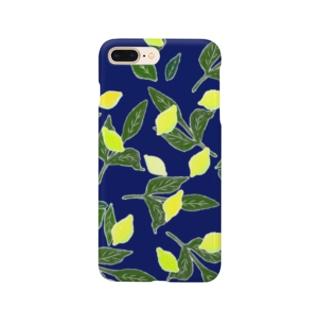 青と檸檬 Smartphone cases