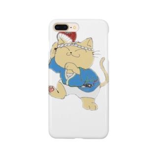 踊り猫 Smartphone cases