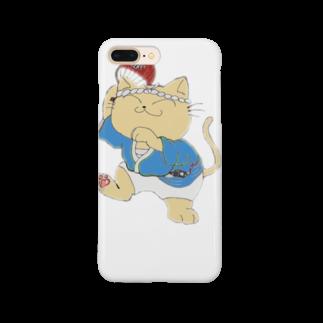 タマのちょびりげ❣️の踊り猫 Smartphone cases