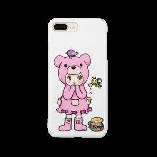 Suzuki Satomi イラストショップのベアミちゃん Smartphone cases
