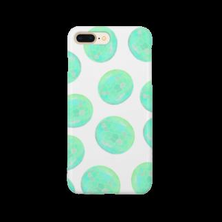 水草のグリーン玉いっぱい Smartphone cases