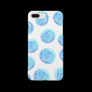 水草のブルー玉いっぱい Smartphone cases