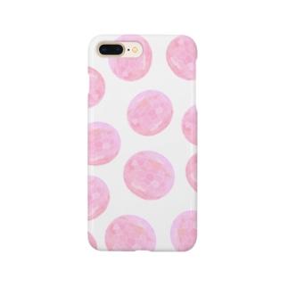 水草のピンク玉いっぱい Smartphone cases