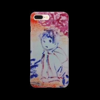 fuffu_dazoの隠れてる少女(イラスト 絵の具 女の子)ふっふ Smartphone cases
