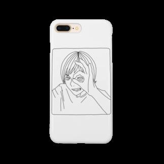 がつののぞきみ(黒) Smartphone cases