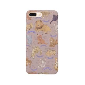ネコカスケッチ(ピンクベージュ) Smartphone cases