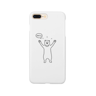 AliviostaのHello bear ハロークマ 熊 動物イラスト Smartphone cases