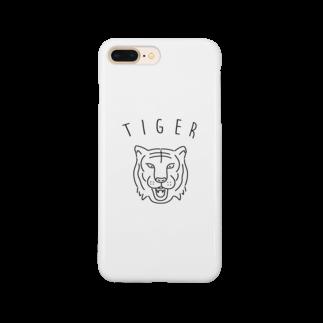 Aliviostaのタイガー 虎 動物イラスト Smartphone cases