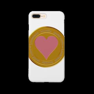 ジェムたん٩(๑òωó๑)۶のLove coin Smartphone cases