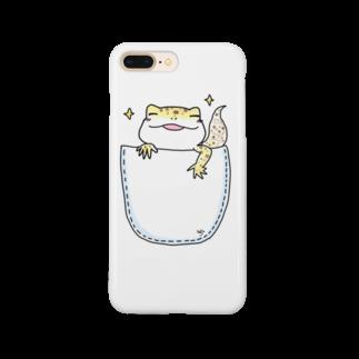 のほほん日和のレオパのくーちゃん(inポッケ) Smartphone cases
