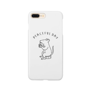 AliviostaのPeaceful Day ネズミ 動物イラスト Smartphone cases