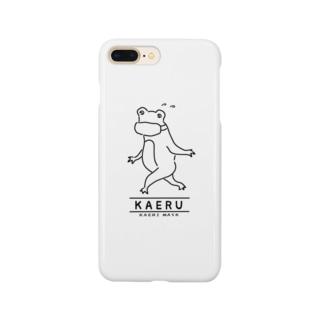 カエル カエリマスク イラスト Smartphone cases