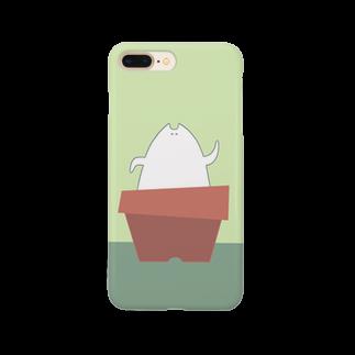 """しろの""""猫""""な雑貨店のまね Smartphone cases"""
